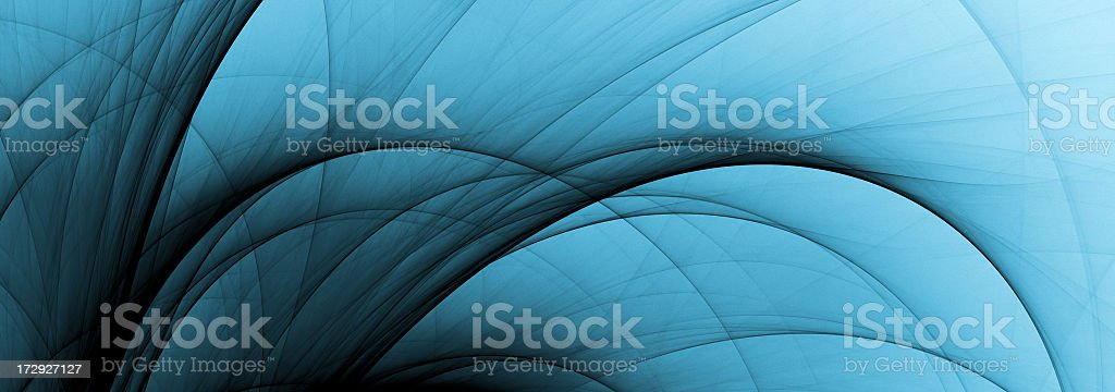 abstract fading blue curves royalty-free stock photo