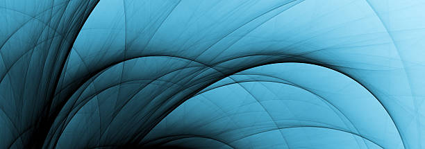 abstract fading blue curves stock photo
