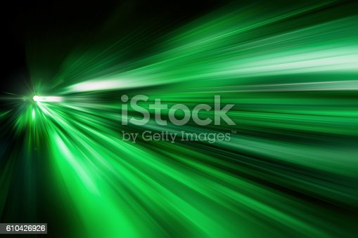 Green Abstract fast zoom speed motion background for Design.