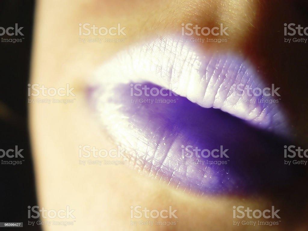 抽象的な女性の唇 - つながりのロイヤリティフリーストックフォト