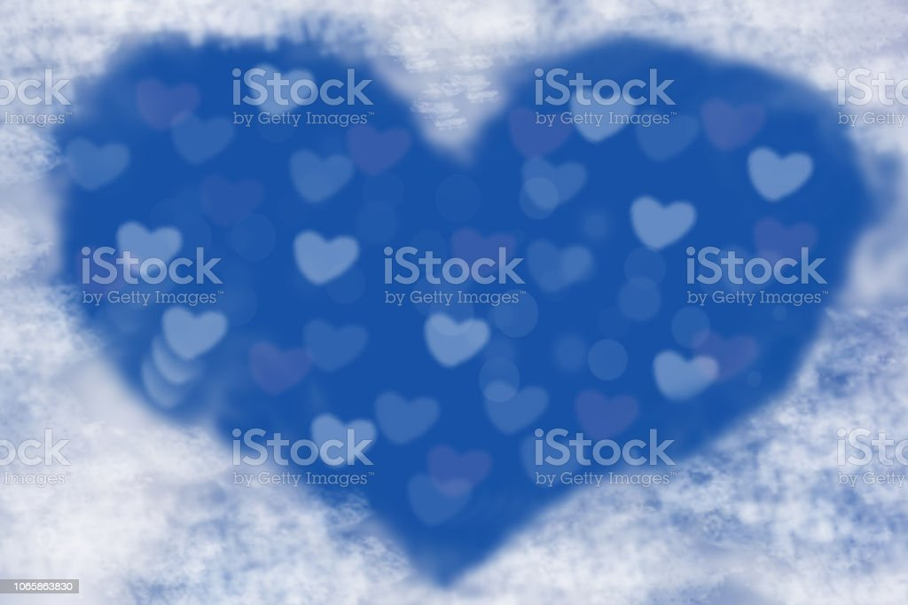 Abstract Festive Blur Bright Blue Pastel Background With