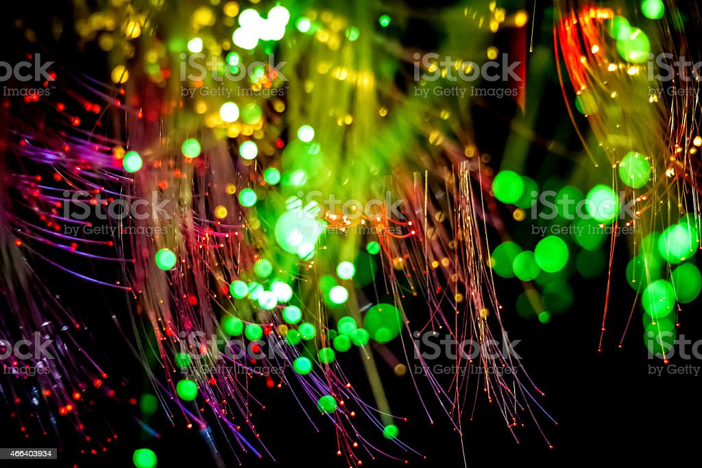 Abstract Fibre Optics stock photo