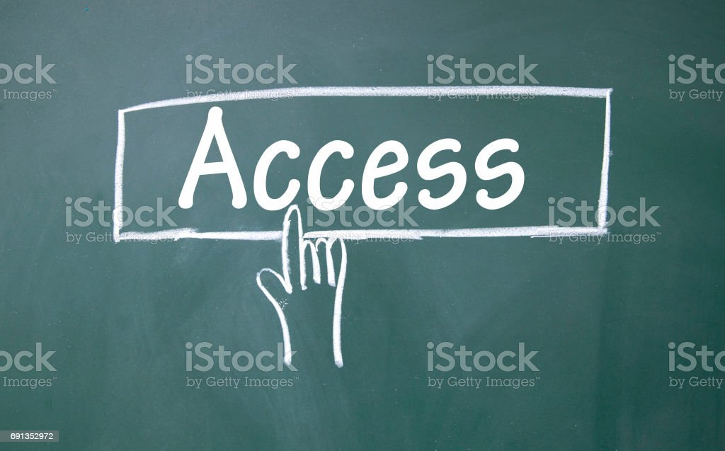 abstract finger click access sign stock photo
