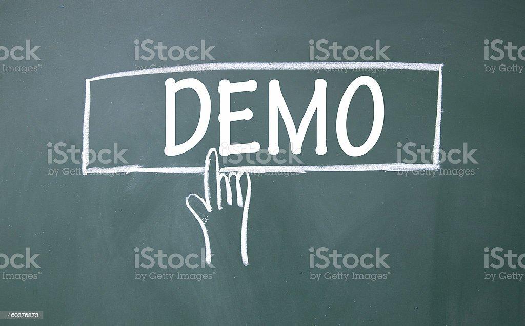 Abstrakte finger auf demo-Schild – Foto