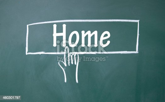 istock abstract finger click home sign 460301797