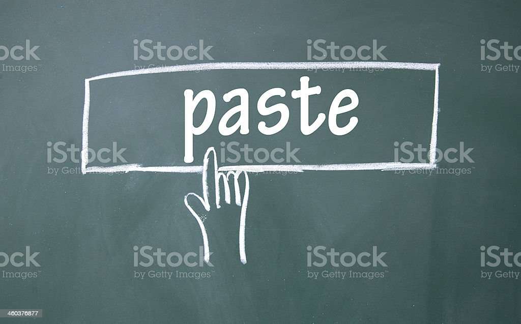 abstract finger click paste sign stock photo