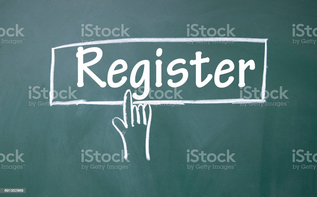 abstract finger click register sign stock photo