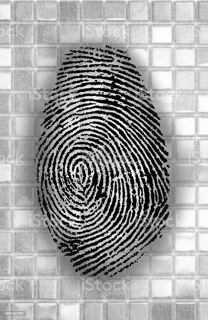 abstract Fingerprint stock photo
