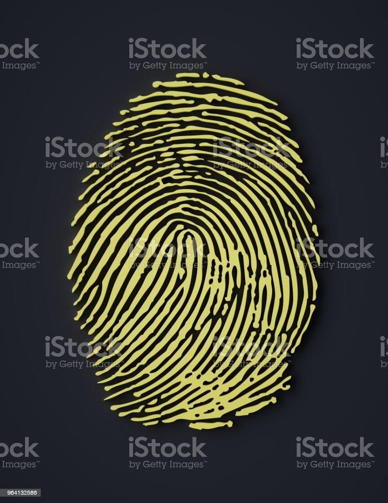 Abstract Fingerprint Symbol stock photo