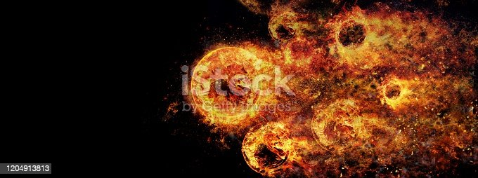 1067101542 istock photo Abstract fireballs flying at tremendous speed 1204913813