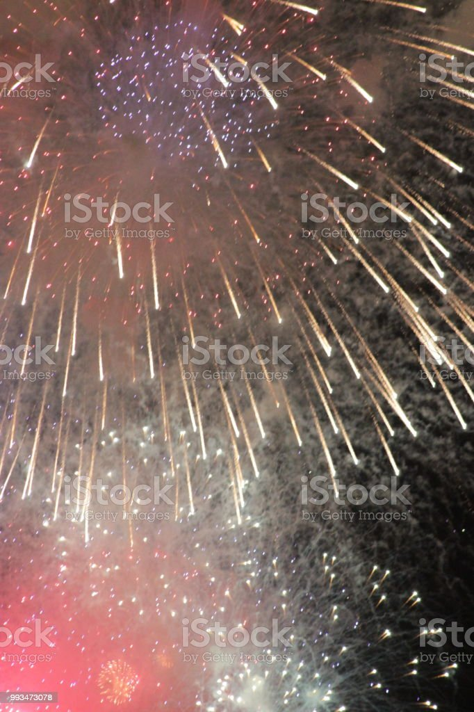 Abstract Fireworks 1 stock photo