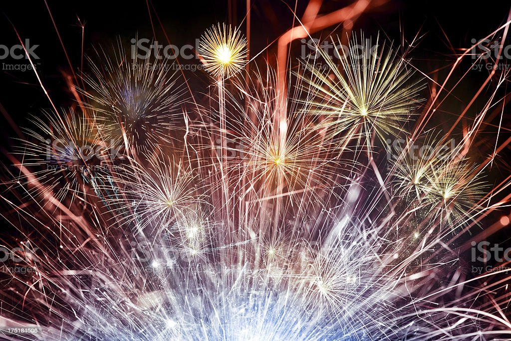 Abstract Fireworks Background royalty-free stock photo