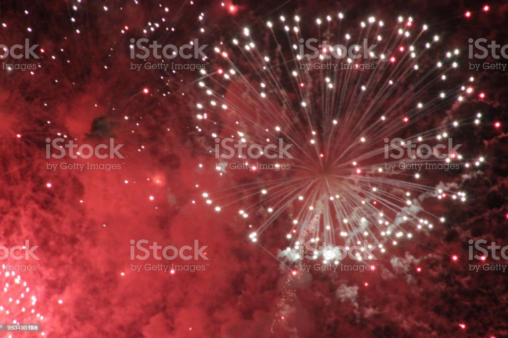 Abstract Fireworks Collection 2018 stock photo
