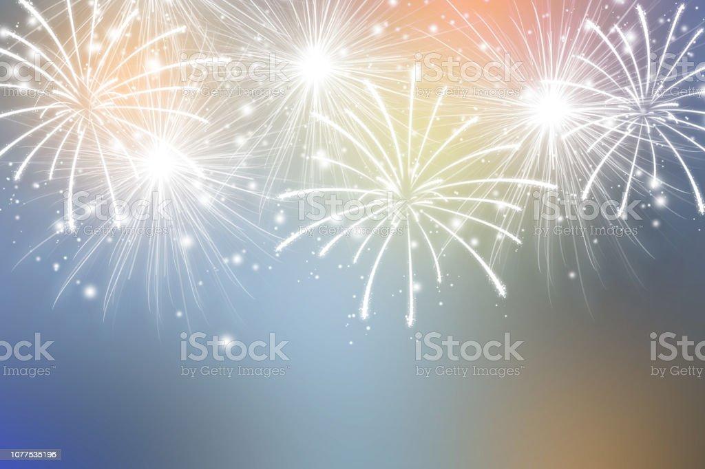 Feux d'artifice abstraite sur fond de couleurs. Fond d'écran de célébration. photo libre de droits