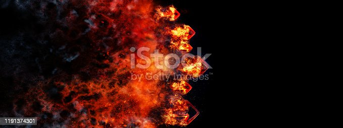 468375662 istock photo Abstract flame arrow 1191374301