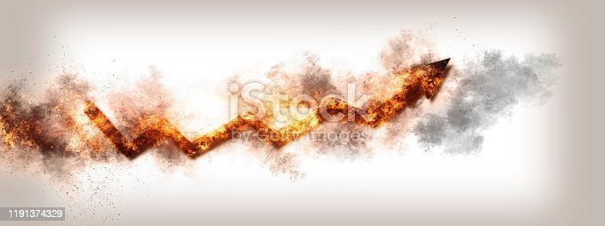 468375662 istock photo Abstract flame arrow 1191374329