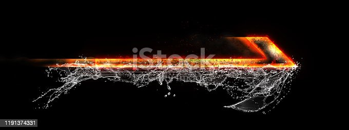 468375662 istock photo Abstract flame arrow 1191374331