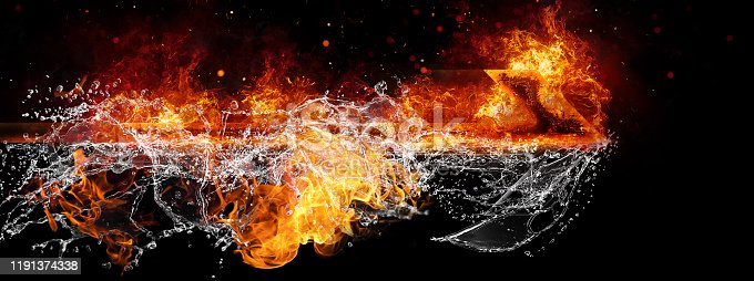 468375662 istock photo Abstract flame arrow 1191374338