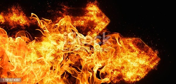 468375662 istock photo Abstract flame arrow 1191374357
