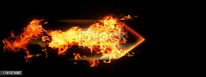 468375662 istock photo Abstract flame arrow 1191374367