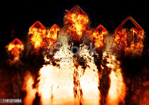 468375662 istock photo Abstract flame arrow 1191374384