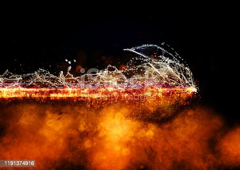 468375662 istock photo Abstract flame arrow 1191374916