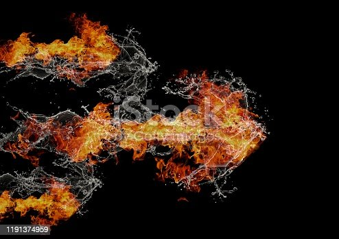 468375662 istock photo Abstract flame arrow 1191374959