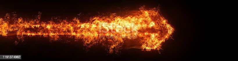 468375662 istock photo Abstract flame arrow 1191374962