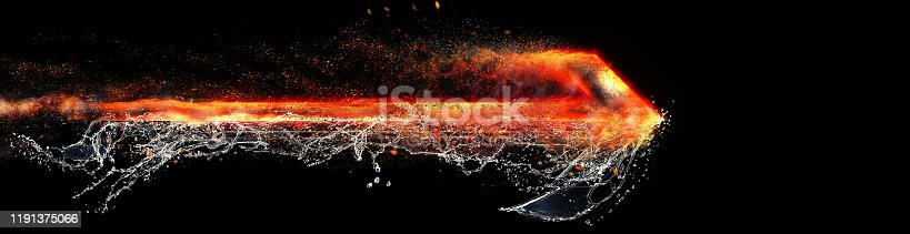 468375662 istock photo Abstract flame arrow 1191375066