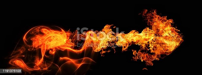 468375662 istock photo Abstract flame arrow 1191375103