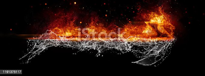 468375662 istock photo Abstract flame arrow 1191375117