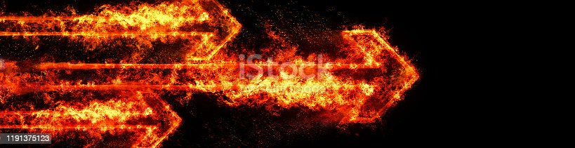 468375662 istock photo Abstract flame arrow 1191375123