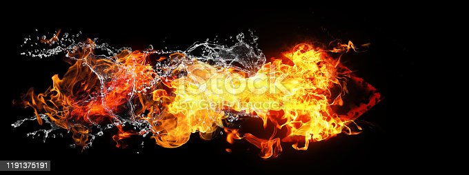 468375662 istock photo Abstract flame arrow 1191375191