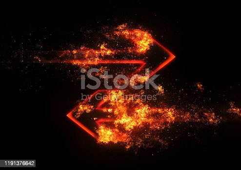 468375662 istock photo Abstract flame arrow 1191376642