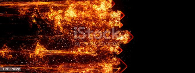 468375662 istock photo Abstract flame arrow 1191376658