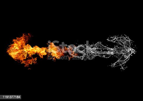 468375662 istock photo Abstract flame arrow 1191377184