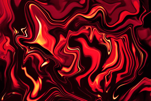 Abstract Flame Fire Red Yellow Yellow Marble Background Wave