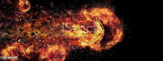 1067101542 istock photo Abstract flames illuminating the dark 1207652443