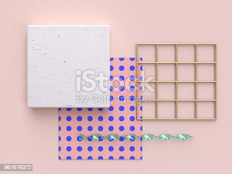 istock abstract flat background pink gold wood 3d rendering 961676072