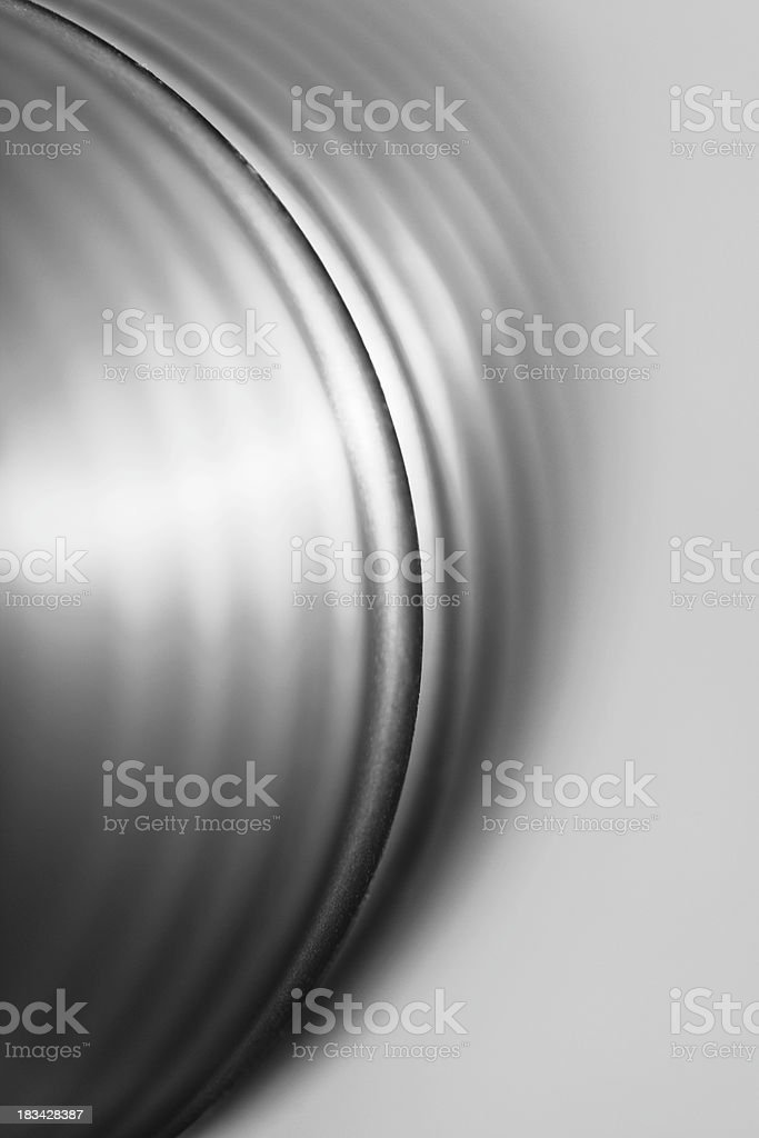 Abstract flexible short silver cube royalty-free stock photo