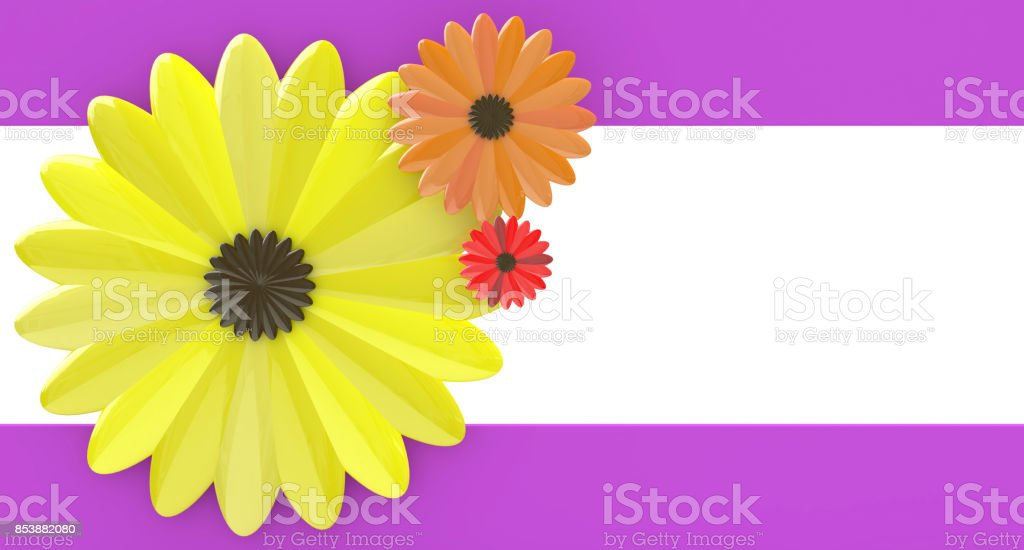 Abstract floral background in the design of access to information relating to the nature and flowers. 3d illustration stock photo