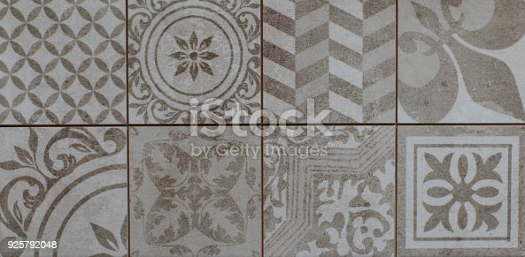 926058102 istock photo abstract floral mosaic pattern, ceramic tile 925792048