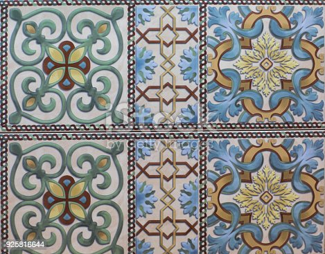 926058102 istock photo abstract floral mosaic pattern, ceramic tile 925816644