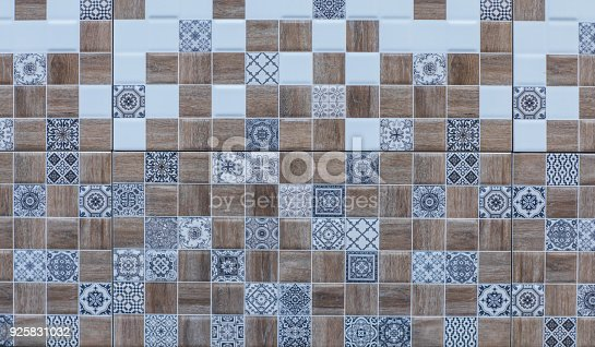 926058102 istock photo abstract floral mosaic pattern, ceramic tile 925831032