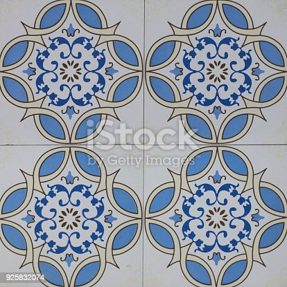 926058102 istock photo abstract floral mosaic pattern, ceramic tile 925832074