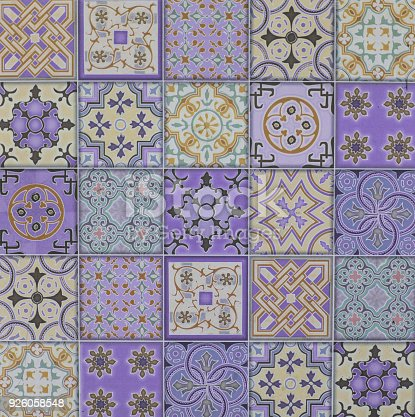926058102 istock photo abstract floral mosaic pattern, ceramic tile 926058548
