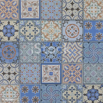 926058102 istock photo abstract floral mosaic pattern, ceramic tile 926058640