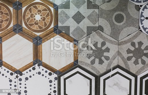 926058102 istock photo abstract floral mosaic pattern, ceramic tile 926062838