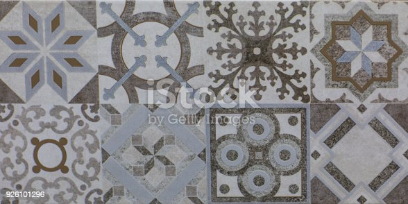 926058102 istock photo abstract floral mosaic pattern, ceramic tile 926101296
