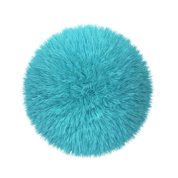 abstracte pluizige bal - pompon stockfoto's en -beelden